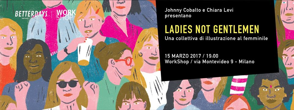 mostra di illustrazione ladies not gentlemen workshop milano