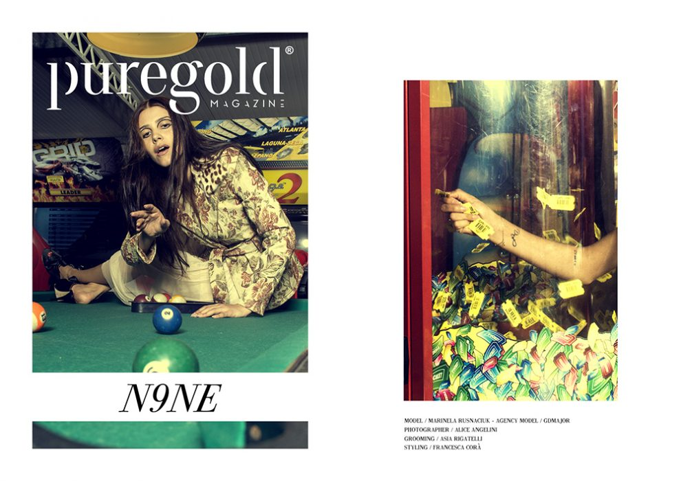 editoriale pure gold magazine fotografia